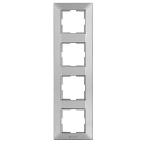 PANASONIC - Рамка четворна вертикална сиво PANASONIC Arkedia slimWNTF0814-2SL