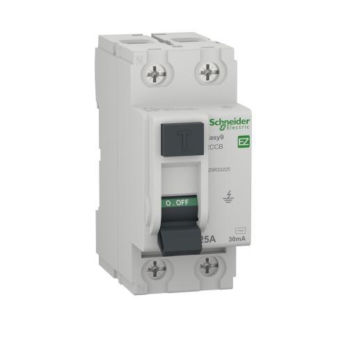 SCHNEIDER ELECTRIC - Дефектнотокова защита Easy 9 2P 25A 30mA клас AC EZ9R32225