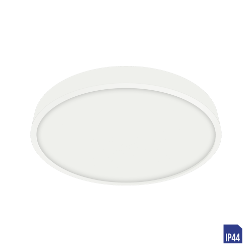 LUXERA - LED панел 12W влагозащитен IP44 външен монтаж LENYS 49035 бяло