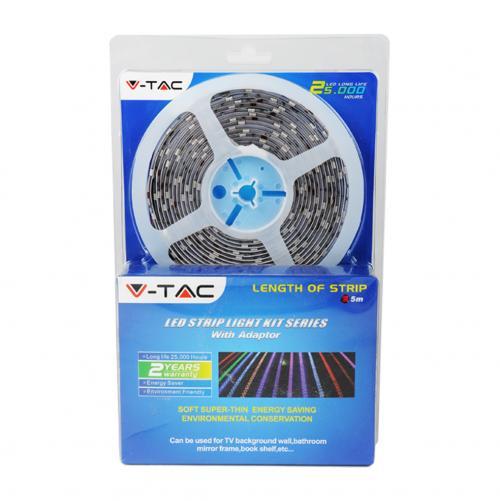 V-TAC - LED Лента Сет SMD5050 60/1 RGB+Бяло IP65 /к-кт 2159+3034+3326/ SKU: 2358 VT-5050 IP20