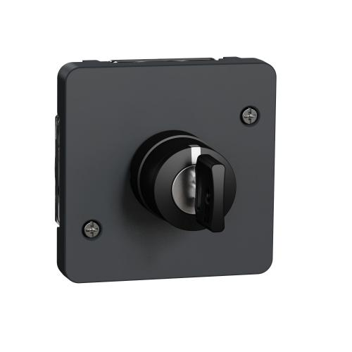 SCHNEIDER ELECTRIC - Ключ трипозиционен механизъм IP55 Mureva цвят черно MUR35061