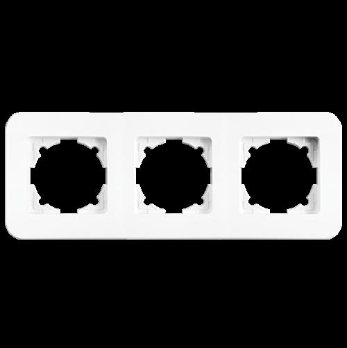 VIKO - 3 Gang Frame Horizontal white Rollina 90480053