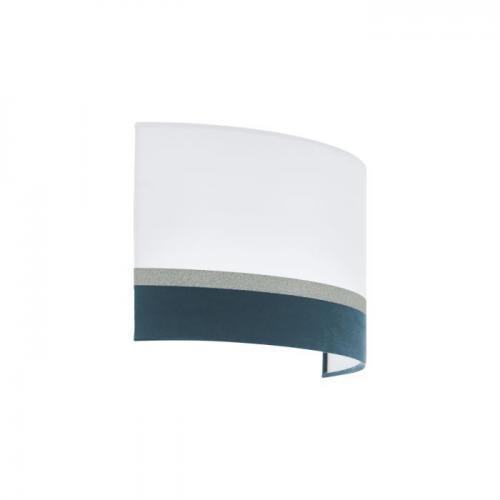 EGLO - Аплик АП 2xE14 бяло-синьо-сребърно 'SPALTINI' 39556