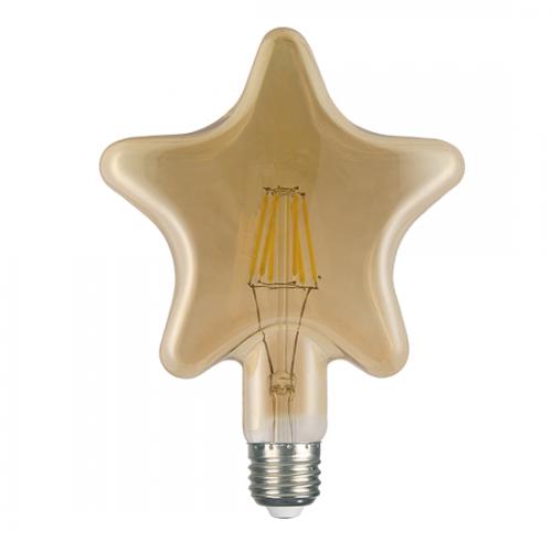 ACA LIGHTING - LED крушка димираща кехлибар Звезда FILAMENT E27 6W 2700K 680lm STAR6WWDIM