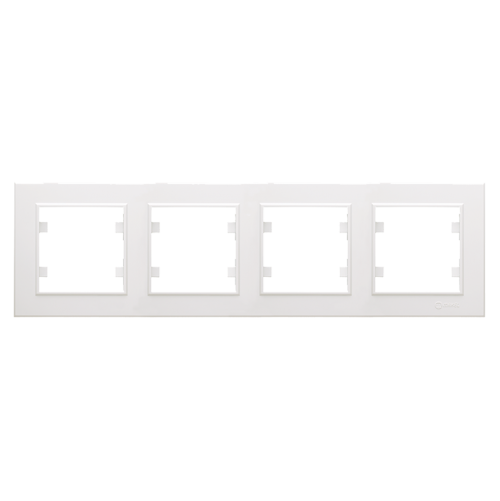 MAKEL - Четворна хоризонтална рамка Karea бяло 56001704