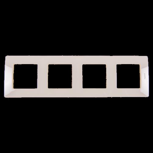 LEGRAND - Четворна рамка NILOE 665014 крем