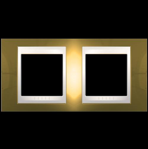 SCHNEIDER ELECTRIC - MGU66.004.504 рамка Unica Plus двойна злато/слонова кост