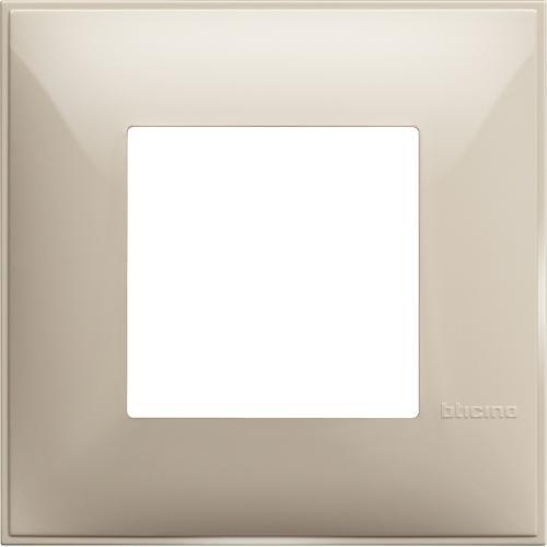 BTICINO - R4802CR Рамка 2М немски стандарт крем Classia