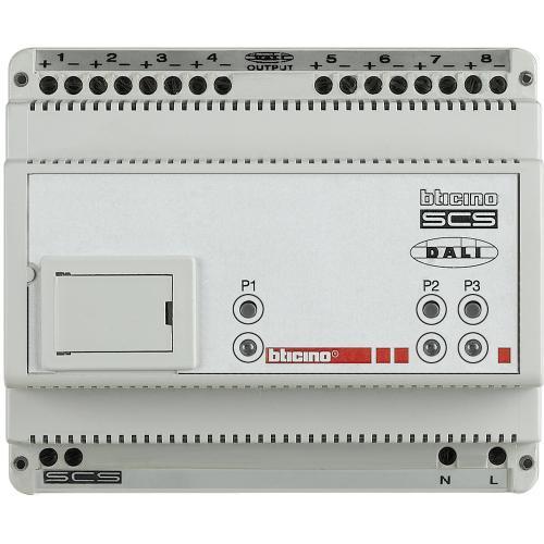BTICINO - F429 Димер DALI 8 канала 6 DIN модула My Home Bticino