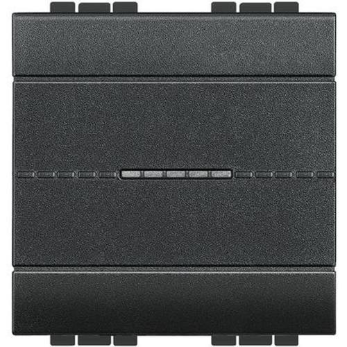 BTICINO - L4054M2 Ключ Аксиален кръстат 2 модул антрацит Livinglight