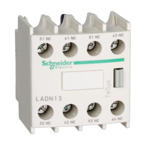 SCHNEIDER ELECTRIC - Блок помощни контакти TeSys D 4NO винтови клеми LADN40