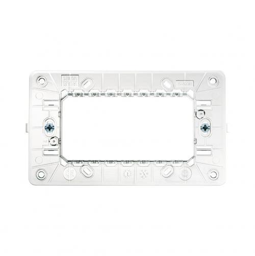 SIMON URMET - 10704N Slim Mounting bracket, with screws, for 4-module embedding boxes