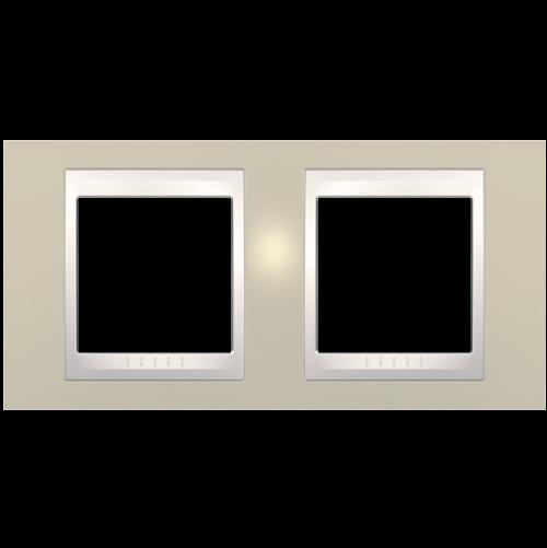 SCHNEIDER ELECTRIC - MGU6.004.567 рамка Unica Plus двойна светло бежов/слонова кост