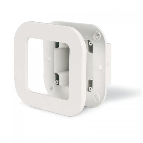 SCAME - Единична конзола за вграждане в стена + декоративна рамка 137.121
