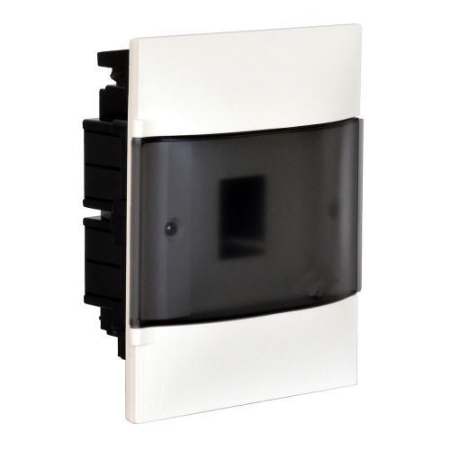 LEGRAND - Табло за скрит монтаж 4 мод. Practibox S с прозрачна врата и Н и РЕ клеми 134154