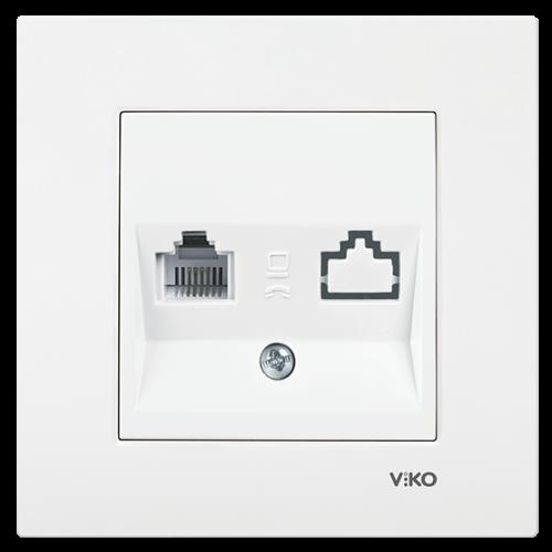 VIKO - 9096 0013 Phone socket RJ11 Viko Karre