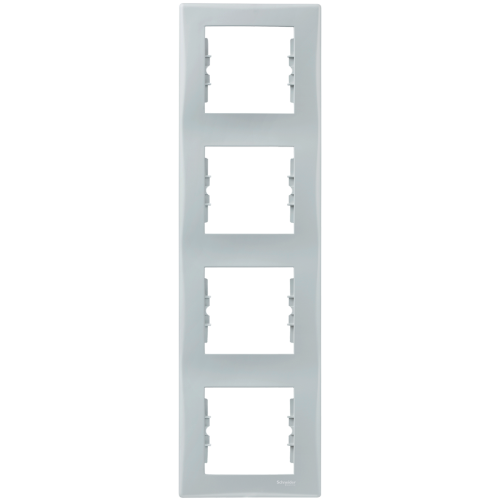 SCHNEIDER ELECTRIC - SDN5802033 декоративна рамка Sedna четворна вертикална сива