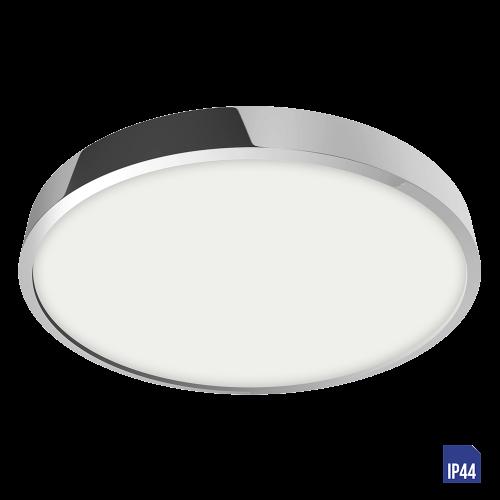 LUXERA - LED панел 24W влагозащитен IP44 външен монтаж LENYS  49027 хром
