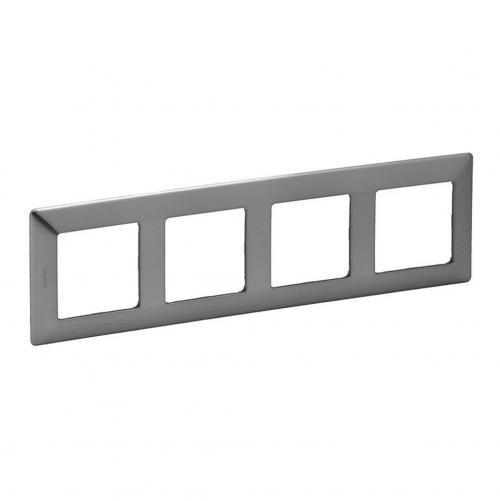 LEGRAND - Четворна рамка Valena Life 754154 инокс