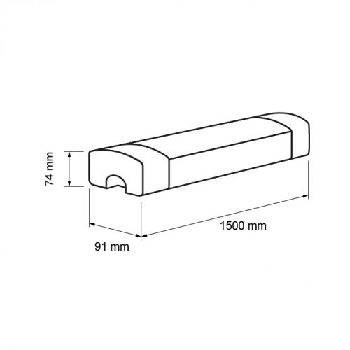 ULTRALUX -  LIT1505050 LED ИНДУСТРИАЛНО ОСВ. ТЯЛО 220V 1,50M 50W 5000К IP65