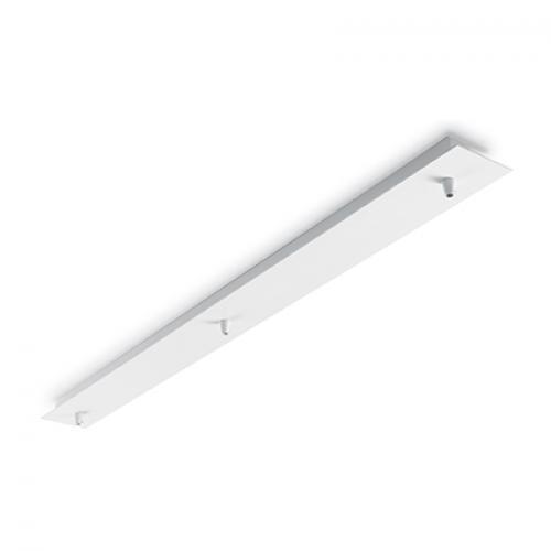 IDEAL LUX - Розетка за таван  ROSONE METALLO 3 LUCE Bianco  122854