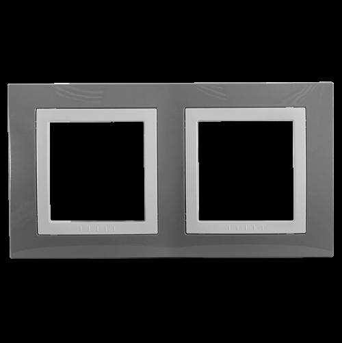 SCHNEIDER ELECTRIC - MGU2.004.858 декоративна рамка Unica Basic двойна техническо сиво