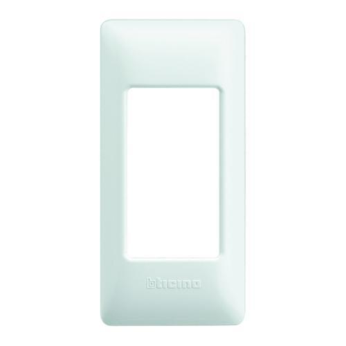 BTICINO - LND4811BI Рамка 1М Anthracite правоъгълна бяла Livinglight
