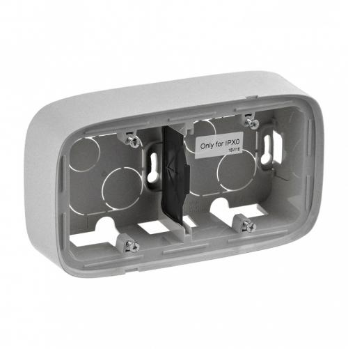LEGRAND - 755572 Двойна конзола за открит монтаж  Valena Allure алуминий