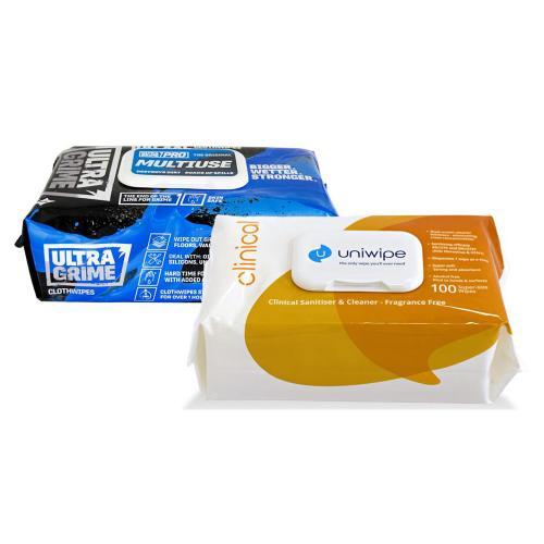 UNIWIPE - Комплект Uniwipe безупречно почистване - UltraGrim & Clinical