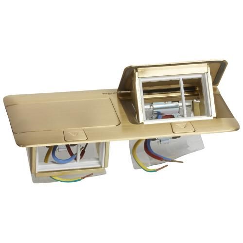 LEGRAND - 0 540 18 Pop-up box to be equipped - 2 x 4 modules - brushed brass