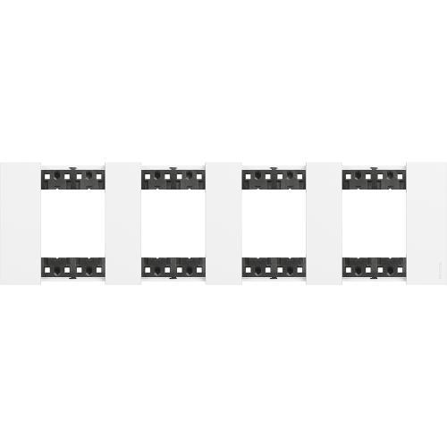 BTICINO - Рамка 4x2 мод. немски стандарт цвят Бяло Living Now Bticino KA4802M4KW