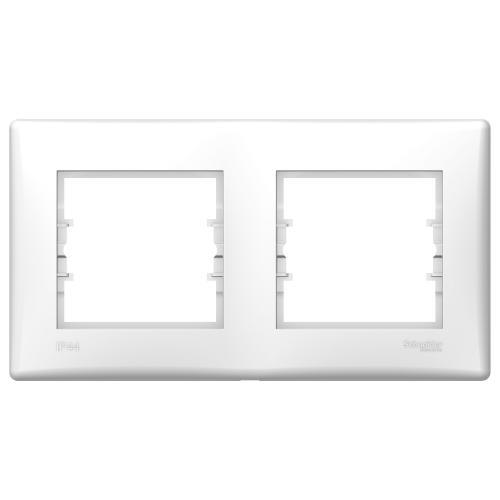 SCHNEIDER ELECTRIC - SDN5810621 влагозащитена рамка Sedna двойна бял IP 44