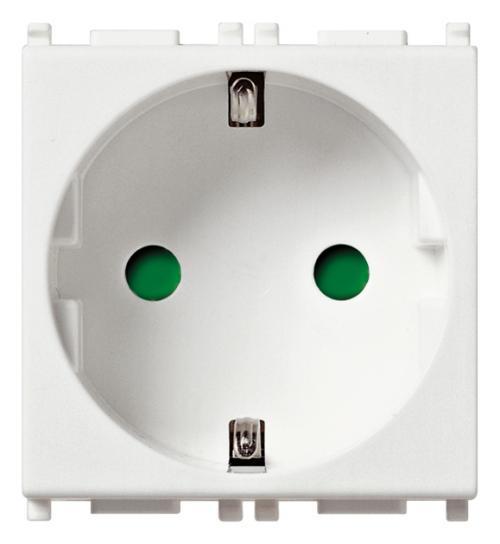 VIMAR - 14208 - Plana  Контакт 2P+E 16A бял