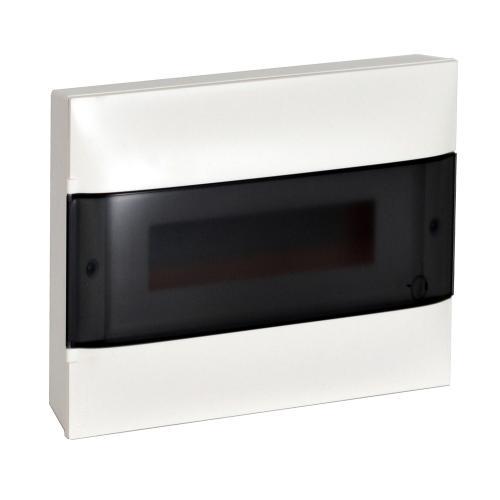 LEGRAND - Табло за открит монтаж 12 мод. Practibox S с прозрачна врата и Н и РЕ клеми 135211