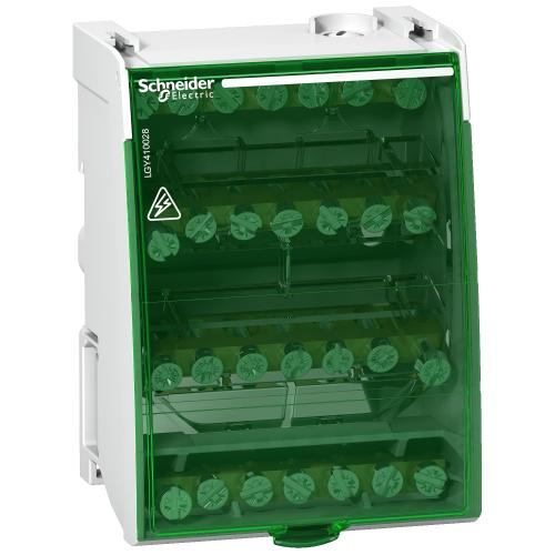 SCHNEIDER ELECTRIC - Клемен блок Linergy DS 4P 100A 28 отвора 4 мод. LGY410028