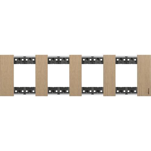 BTICINO - Рамка 4x2 мод. немски стандарт цвят Дъб Living Now Bticino KA4802M4LM