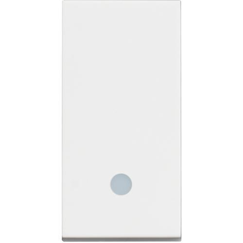 BTICINO - RW4005L Бутон 1 модул с LED индикация Classia бял