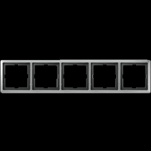 SCHNEIDER ELECTRIC - MTN481546 рамка петорна неръждаема стомана Artec Merten