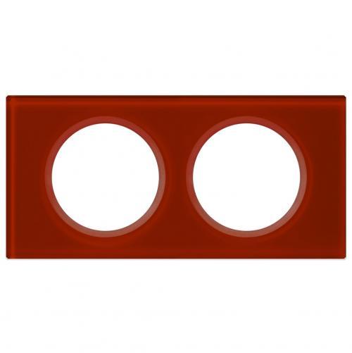 LEGRAND - Двойна рамка Celiane 69472 стъкло кармин