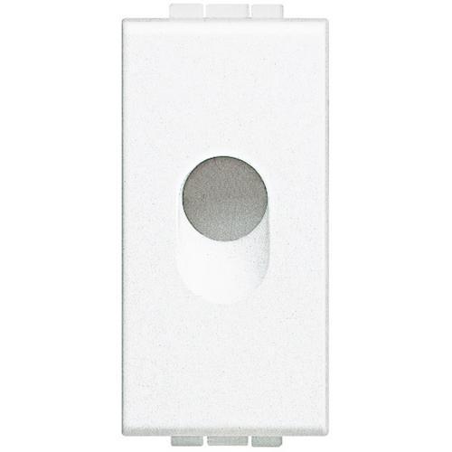 BTICINO - N4953 Празен модул с отвор ф9мм едномодулен бял Livinglight