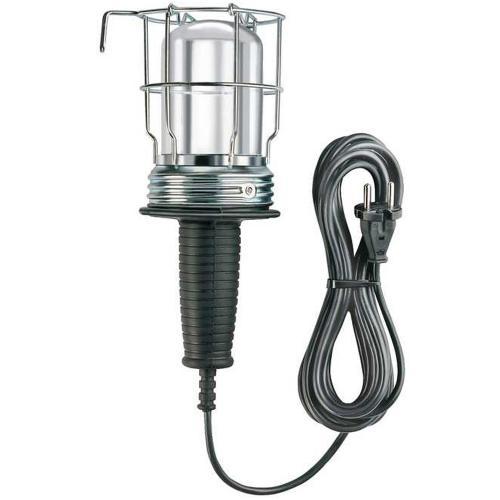 BRENNENSTUHL - Подвижна лампа с гумиран кабел и метална решетка, 5m, Е27, 60W, 1176460