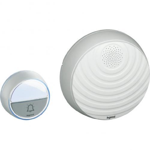 LEGRAND - 94252 Безжичен звънец бял компелкт с бутон