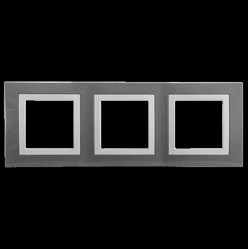 SCHNEIDER ELECTRIC - MGU2.006.858 декоративна рамка Unica Basic тройна техническо сиво