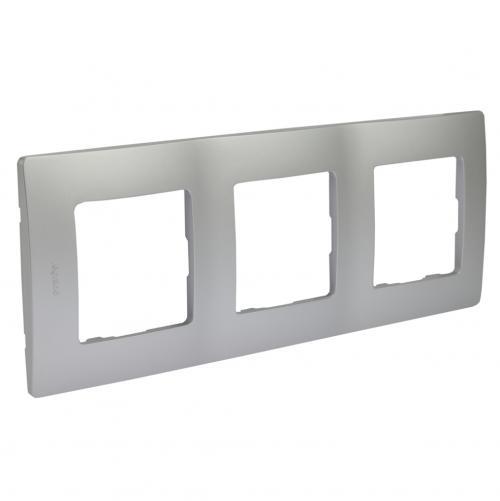 LEGRAND - Тройна рамка NILOE 397043 алуминий