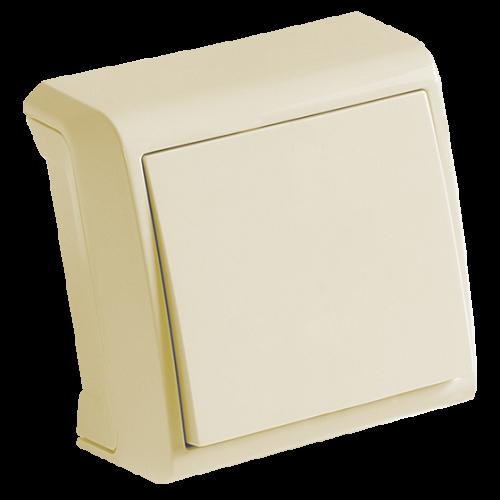 VIKO - Единичен ключ за външен монтаж Vera крем