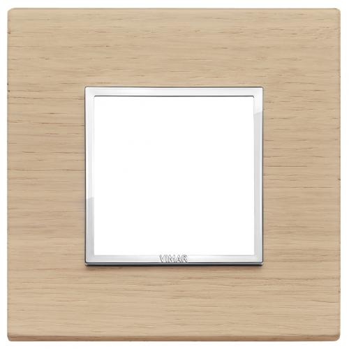 VIMAR - 21642.32 - Двумодулна рамка wood white oak