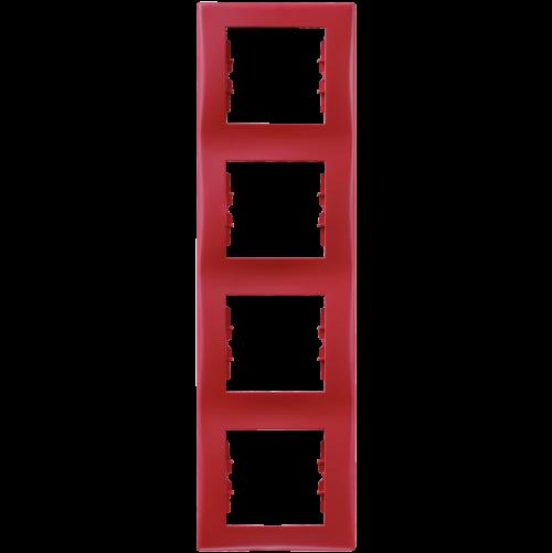 SCHNEIDER ELECTRIC - SDN5802041 декоративна рамка Sedna четворна вертикална червена