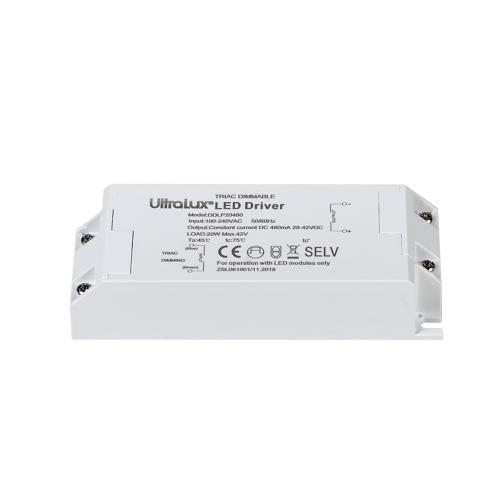 ULTRALUX - DDLP20480 Димиращ TRIAC драйвер за LED осветление 20W 480mA