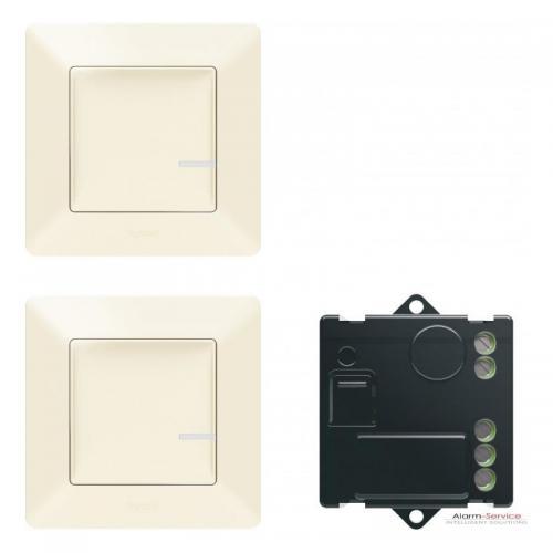 LEGRAND - Комплект девиаторна инсталация Netatmo 752250 Valena Life включващ микромодул и 2х безжични ключа крем