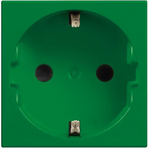 BTICINO - R4141V Контакт шуко 2Р+Е 16А Classia зелено